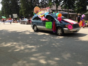 Chamber Days Parade - August 9, 2014 Sugar Shack Float