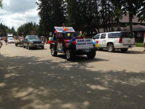 Chamber Days Parade - August 9, 2014 TRADING POST FLOAT