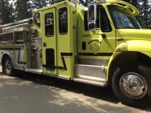 Chamber Days Parade - August 9, 2014 ONANOLE FIRE DEPARTMENT